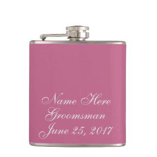 Plum Wedding Gift Flasks