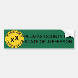 Pluma County for State of Jefferson bumper sticker Car Bumper Sticker