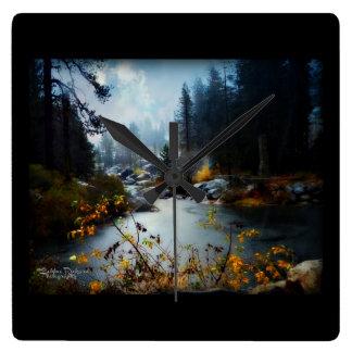 Plumas River in the Fall Clocks
