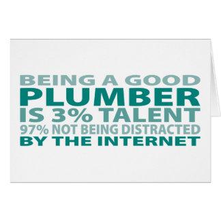 Plumber 3% Talent Card