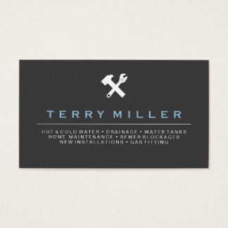 plumber business card / handyman business cards