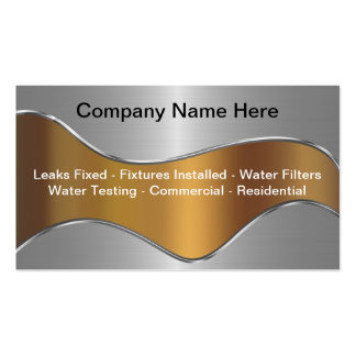 Plumber Business Cards
