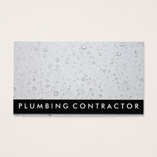 Plumber Business Cards (Water Droplets)