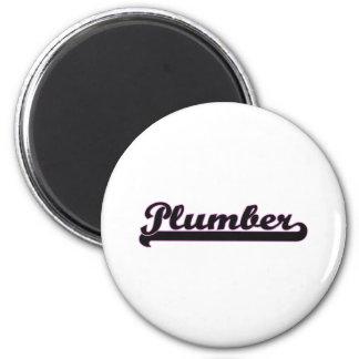 Plumber Classic Job Design 6 Cm Round Magnet