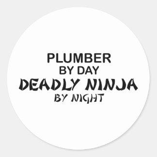 Plumber Deadly Ninja by Night Classic Round Sticker