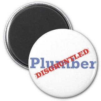 Plumber / Disgruntled 6 Cm Round Magnet