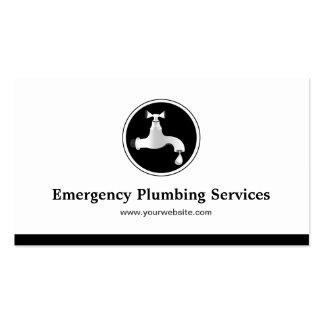 Plumber - Emergency Plumbing Services Pack Of Standard Business Cards