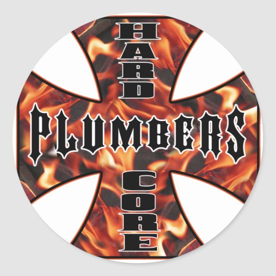 Plumber Hard Core Classic Round Sticker