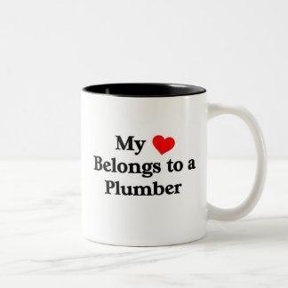 Plumber has my heart Two-Tone mug