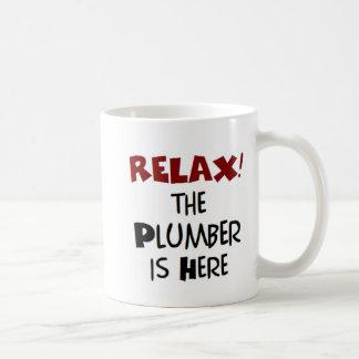 Plumber here basic white mug