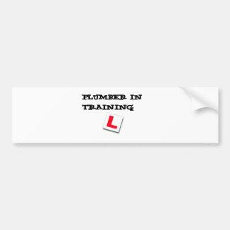 plumber in training bumper sticker