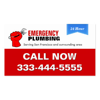 Plumber - Local Emergency Plumbing Services Pack Of Standard Business Cards