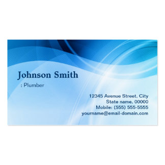 Plumber - Modern Blue Creative Pack Of Standard Business Cards