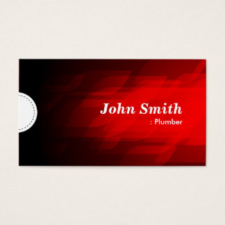 Plumber - Modern Dark Red Business Card