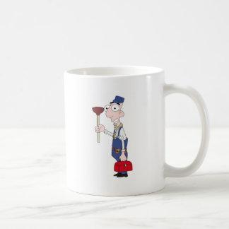plumber basic white mug