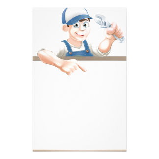Plumber or mechanic sign stationery