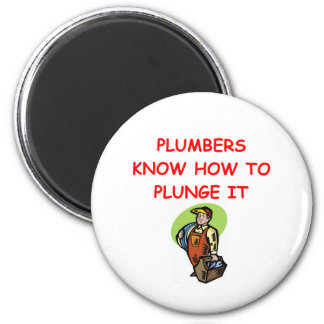 PLUMBER.png 6 Cm Round Magnet