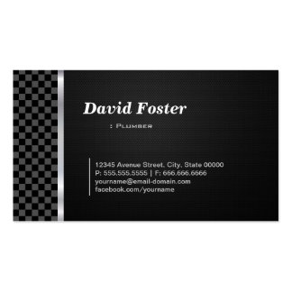 Plumber Professional Black White Business Cards