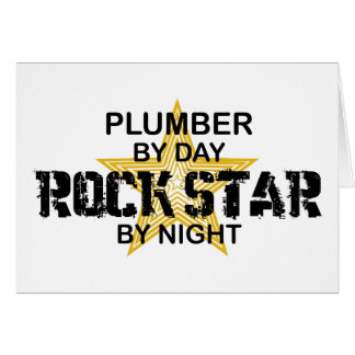 Plumber Rock Star by Night Card
