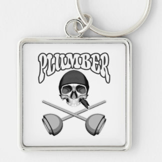 Plumber Skull and Plungers Keychain