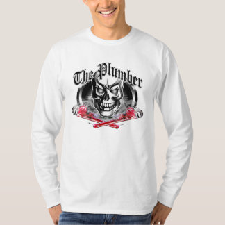 Plumber Skull and Smoking Wrenches 3.1 T-Shirt