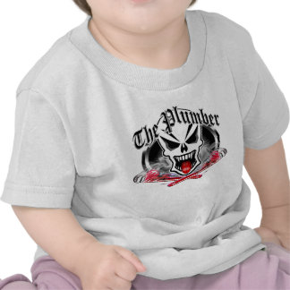 Plumber Skull and Smoking Wrenches Shirt