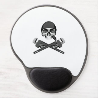 Plumber Skull and Wrenches Gel Mouse Pad