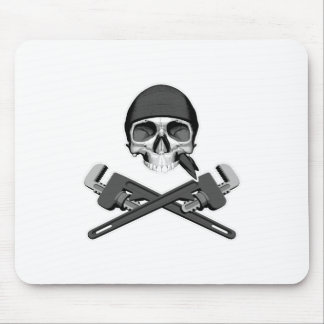 Plumber Skull and Wrenches Mouse Pad