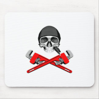 Plumber Skull and Wrenches v2 Mouse Pad