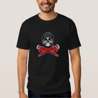 Plumber Skull and Wrenches v2 T Shirt