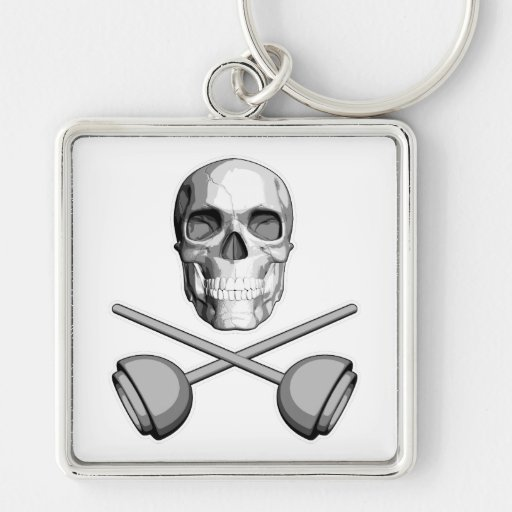 Plumber Skull: Crossed Plungers Key Chains