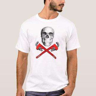 Plumber Skull: Crossed Wrenches T-Shirt