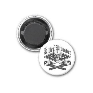 Plumber Skull: Killer Plumber 3.1 1 Inch Round Magnet