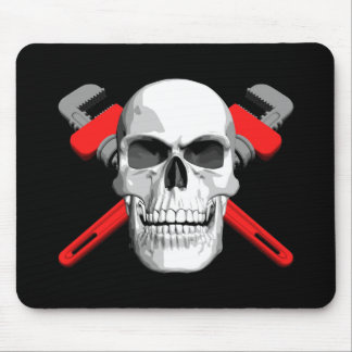 Plumber Skull Mouse Pad