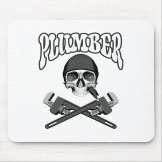 Plumber Skull Mousepads