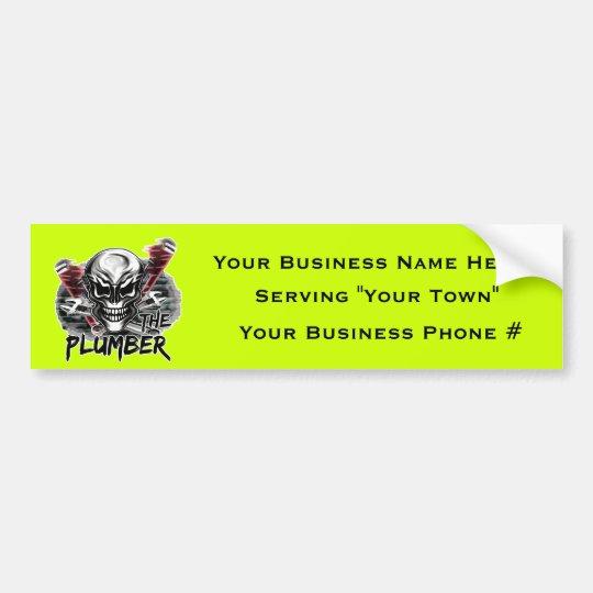 Plumber Skull: The Plumber Bumper Sticker