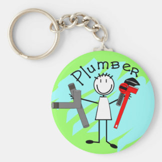 Plumber  stick person design keychains
