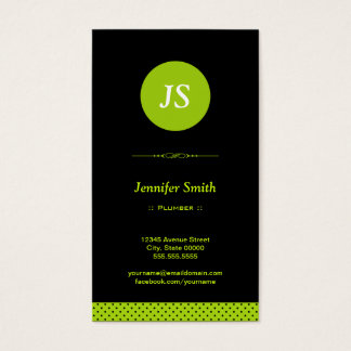 Plumber - Stylish Apple Green Business Card