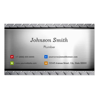 Plumber - Stylish Platinum Look Pack Of Standard Business Cards