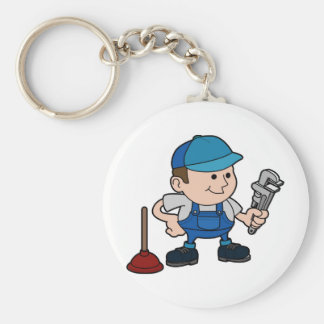 plumber with wrench keychains