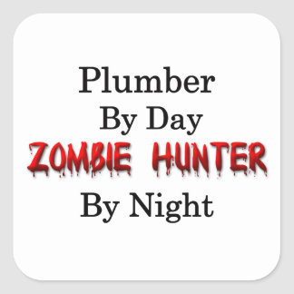 Plumber Zombie Hunter Square Sticker