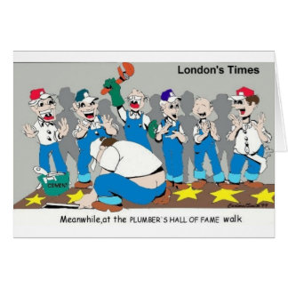 Plumbers Hall Of Fame Funny Gifts & Collectibles Card