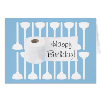 Plumber's Happy Birthday Day Greeting Card
