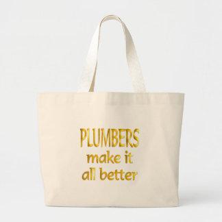 Plumbers Jumbo Tote Bag