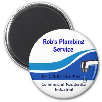 plumbing2 6 cm round magnet