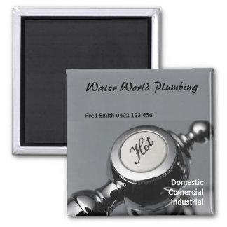 plumbing3 square magnet