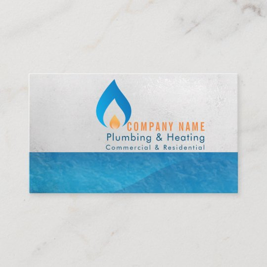 Plumbing And Heating Business Logo Business Card Zazzle
