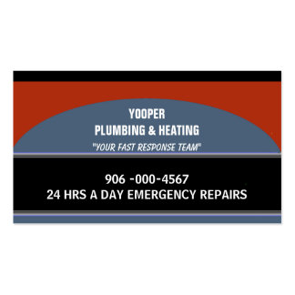Plumbing and Heating Home Maintenance and Repair Business Card Templates