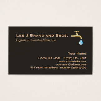 Plumbing Business Card