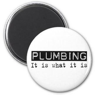 Plumbing It Is 6 Cm Round Magnet
